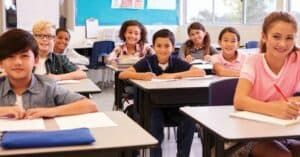 Photo of diverse group of students in classroom