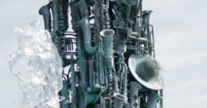 Photo of a intstrument sculpture