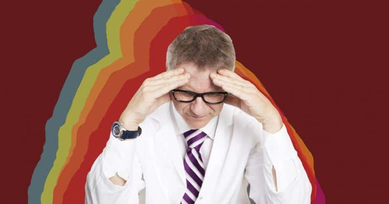 Photo of a stressed audiologist