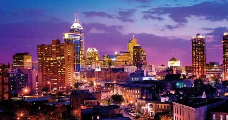 Photo of Indianapolis at night
