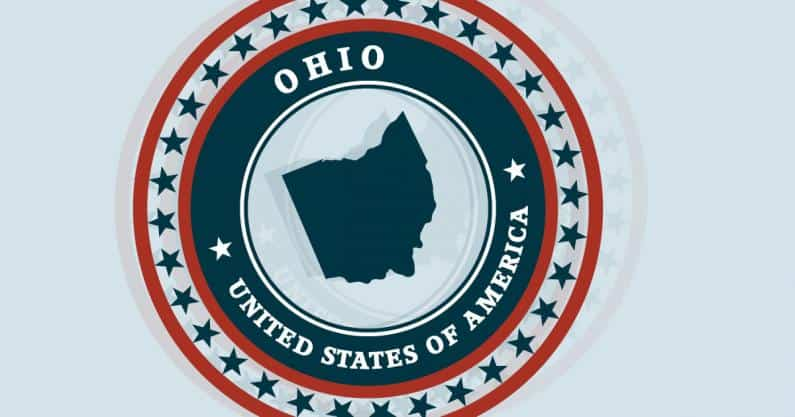 Illustration of the Ohio State medallion