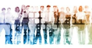 Photo illustration of diverse group of AuD students