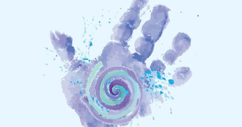 Illustration of child hand print