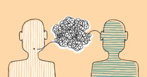 Illustration depicting motivational interviewing