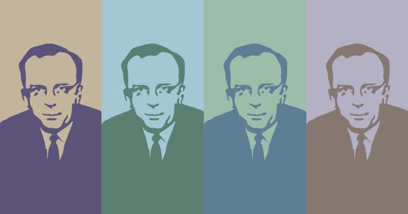 Warhol-inspired illustration of CC Bunch