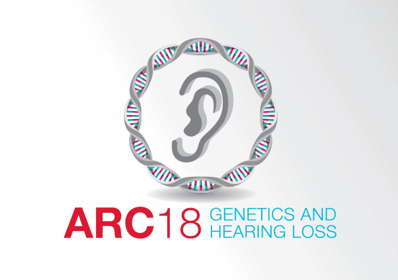ARC 2018 logo representing DNA and hearing