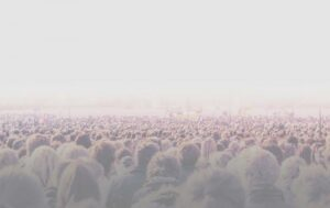 Photo of a crowd of people