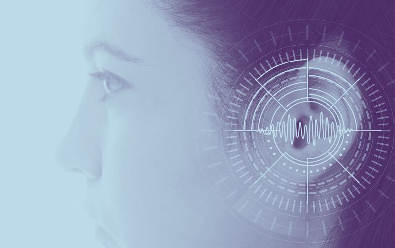 Close-up photo of woman maximizing residual hearing