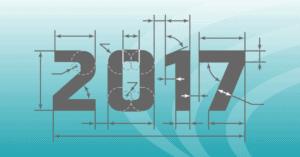Illustration of 2018 blueprinted