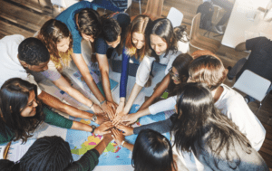 Diverse student photo of international teamwork