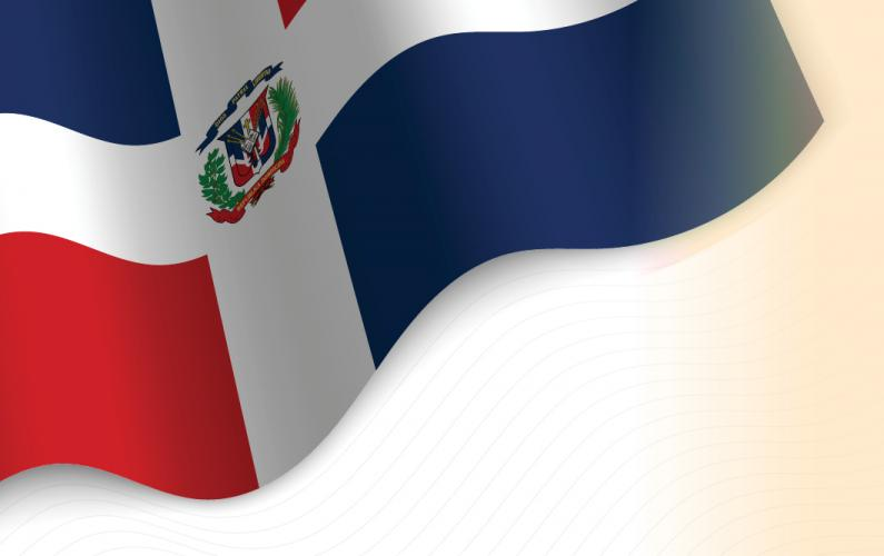 Illustration of Dominican Republic flag