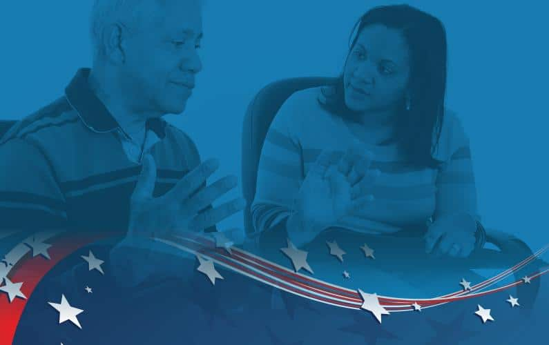 Photo of Audiological Counseling with veterans