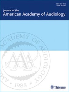 Cover page of the Journal of the American Academy of Audiology