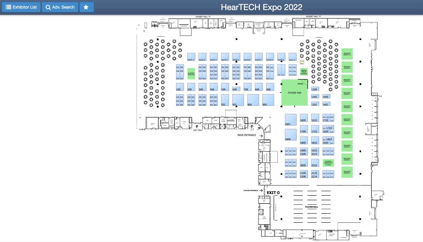HearTECH Expo floor plan