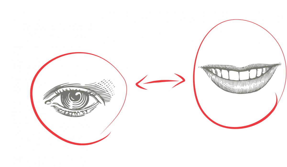 Eyes and Teeth Illustration