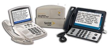Photo of Sprint CapTel phones