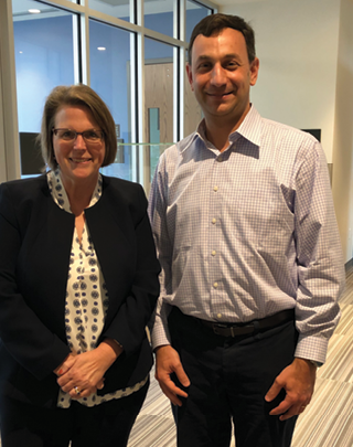 Catherine Palmer, PhD, visits Dr. Mochon in New Orleans