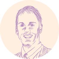 Dave Fabry portrait illustration