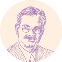 Jerry Norhern portrait illustration