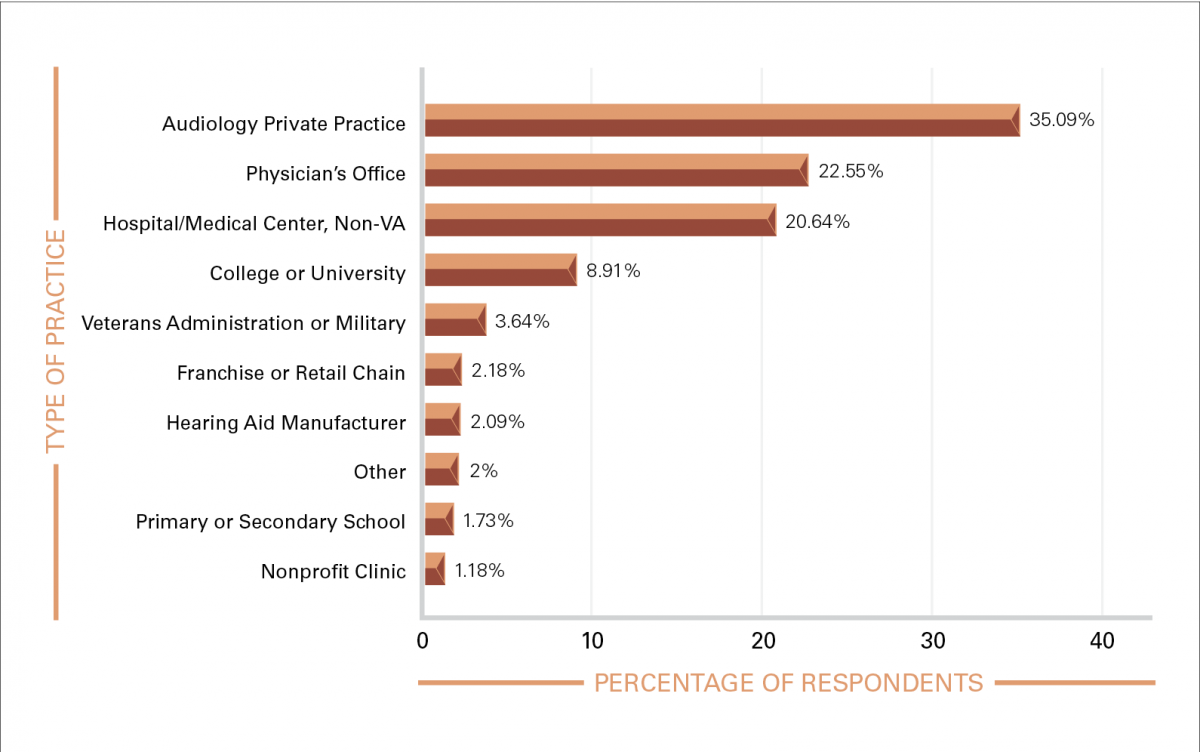 FIGURE 1. Distribution of practice settings for respondents.