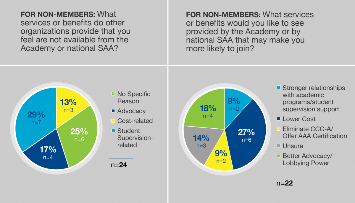 FIGURE 2. Responses from non-members about what they feel AAA is lacking.